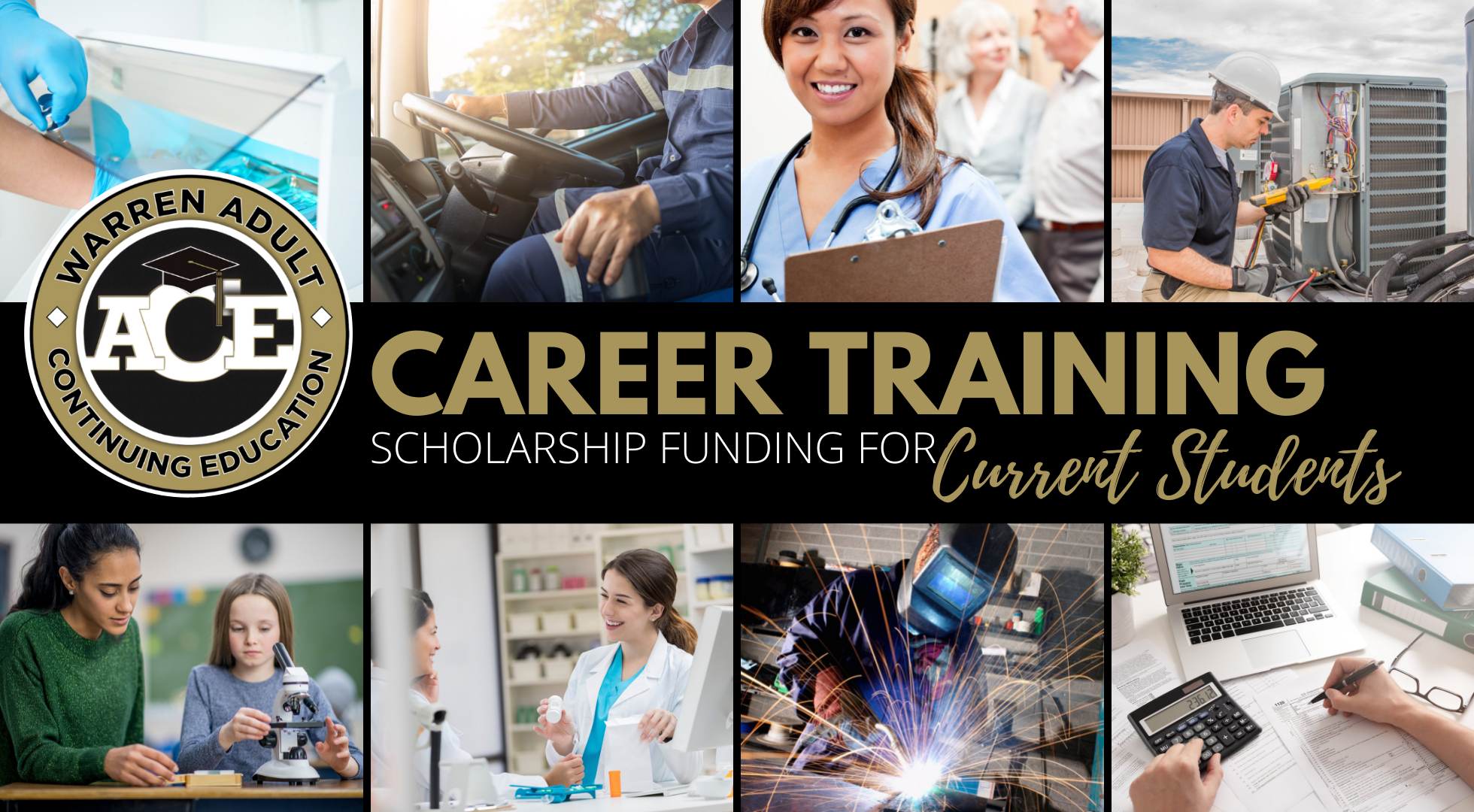 2021-22 Career Training Scholarship for CURRENT STUDENTS